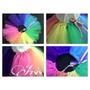 Tutu Disfraz Pollera Bailarina Multicolor Arcoiris O Lisos