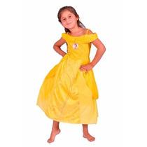 Disfraz Disney Princesas Bella Con Licencia Disney Original.