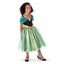Vestido Disfraz Anna Frozen Lujo Original Disney Store T 7/8