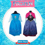 Disfraz Princesa Frozen El Original!!! Disney Importados!!!