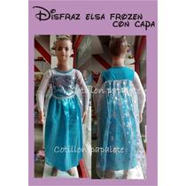 Disfraz Frozen Anna Elsa Importado Princesa Vestido