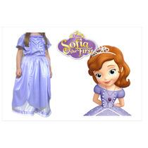 Disfraz Princesa Sofia Con Tiara Y Amuleto - Disf. Frozen