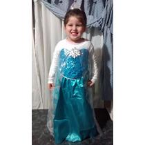 Vestido Disfraz Frozen Elsa Y Anna Importados! Miralos!