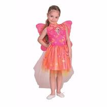 Disfraz Barbie Mariposa Y La Puerta Secreta Varios Talles