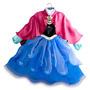 Vestido Disfraz Anna De Frozen Original Disney Store Usa!