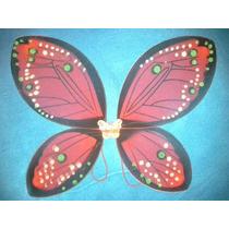 Alas De Hadas Mariposa De Tul Colores Nuevos 55x45 Cm Roja