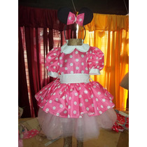 Disfraz Vestido De Minnie Color Rosa O Rojo