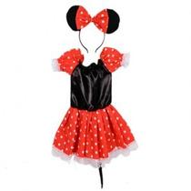 Disfraz De Minnie P/beba O Niña Talle 0 Y 1