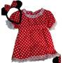 Disfraz Minnie Mouse Bebe Hasta 1 Año Artesanal A Medida