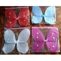 Alas Mariposa Sin Accesorios Con Brillos Disfraz Cotillon