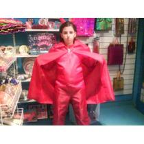 Disfraz Diablo Niños 8 A 10 Años Cola Cuernitos Halloween