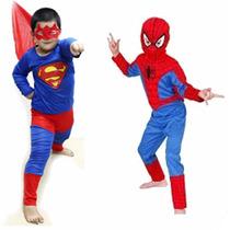 Disfraz Para Niños Superman Spiderman