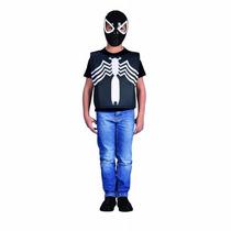 Mascara Con Pechera Spiderman Negro Venom Disfraz