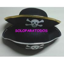 Sombrero Gorro Pirata + Sable +parche + Garfio
