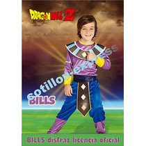 Disfraz Original Bills Dragon Ball Z Talle 1 Y 3