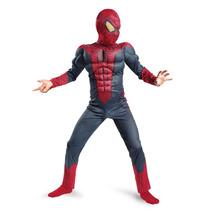 Disfraz Spiderman 100% Orig. Musculos!!! Talles 7-8 & 10-12