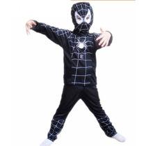 Disfraz Spiderman Hombre Araña Negro - Niños Talles - S M L