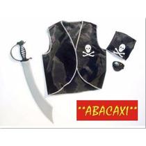 Disfraz Set De Pirata Niños Pechera Careta Halloween