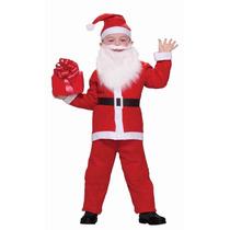 Traje Disfraz Papá Noel Santa Claus Infantil X 5 Piezas