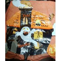 Globo Metalizado Halloween Casa Terror Fantasma Deco Fiesta