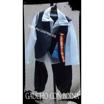 Disfraz Patrio Gaucho Completo Boina Chaleco Talle 4 Acto