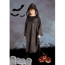 Disfraz Halloween Verdugo Tunica Negra C/capucha Niño Jiujim