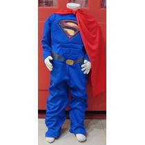 Disfraz Superman Con Musculos Super Héroe Para Nenes