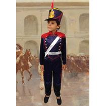 Disfraz Granadero Patrio C/sombrero 3-9 Años Hermoso Jiujim