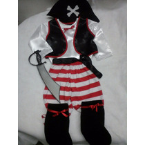 Disfraz De Pirata Con Accesorios Niña Niño Nene Nena Calidad