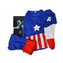 Disfraz De Capitan America Talles S M Y L