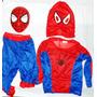 Combo Disfraz Hombre Araña + Mascara Rígida Spiderman