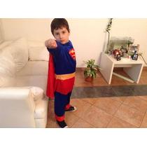 Disfraz De Superman Talle 3 A 5 Años Halloween Dia Niño