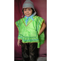 Disfraz Patrio Coya Nene Talle 4 Completo Coya Acto Escolar