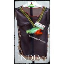 Disfraz Patrio India Con Vincha Escuela Jardin Talle 4 Acto