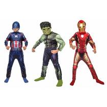 Disfraz Iron Man, Hulk Y Capitan America Originales Importad