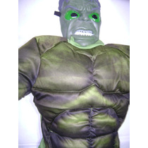 Disfraz Del Increible Hulk Con Musculos Y Mascara Con Luz !