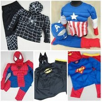 Disfraz Musculos Superman Batman Spiderman Flash Robin Iron