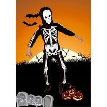 Disfraz Halloween Esqueleto Completo! Niño Variedad! Jiujim