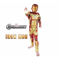 Disfraz Iron Man Con Musculos 100% Original Marvel Gusbabys