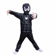 Disfraz Hombre Araña Negro Venom Infantil Superheroe