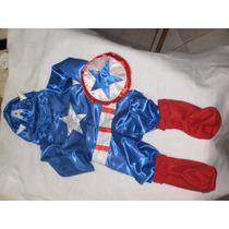 Disfraz De El Capitan America Completo Niño Nene Calidad