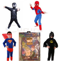 Disfraz De Spiderman Negro Araña Rojo Ben 10 Batman Superman