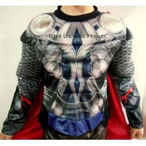 Disfraz Infantil De Thor - Con Músculos!!!
