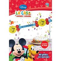 Mickey Globos Con Mensaje Cumple Deco Mickey Mouse Minnie