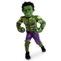 Disfraz Increible Hulk Musculos Disney Store Original Usa