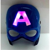 Mascara Capitan America Con Luz En La A Careta
