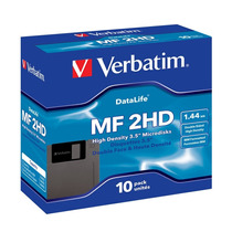 Diskette Verbatim 3.5 1.4 Mb Mf2-hd Data Life Pack De 10
