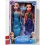 Frozen Muñecas Elsa Anna Musicales Articuladas 45cm Caja X 2