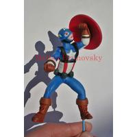 Capitán América, 12 Cm, Marvel Para Torta O Adorno