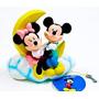 Alcancia Mickey Y Minnie De Goma 18cm En Luna